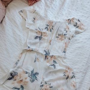 Kendall & Kylie White Floral Romper